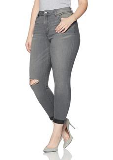 NYDJ Women's Plus Size Girlfriend Jeans in Future Fit Denim Alchemy with Knee Slit