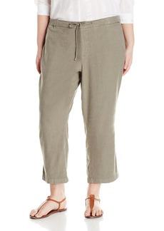 NYDJ Women's Plus Size Jamie Wide Leg Ankle Pants In Stretch Linen