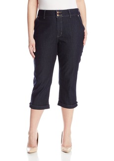 NYDJ Women's Plus-Size Kasia Cropped Jeans with Novelty Clasp