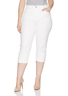 NYDJ Women's Plus Size Marilyn Crop Cuff Jean