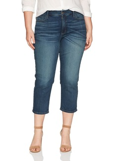 NYDJ Women's Plus Size Marilyn Relaxed Capri Jeans