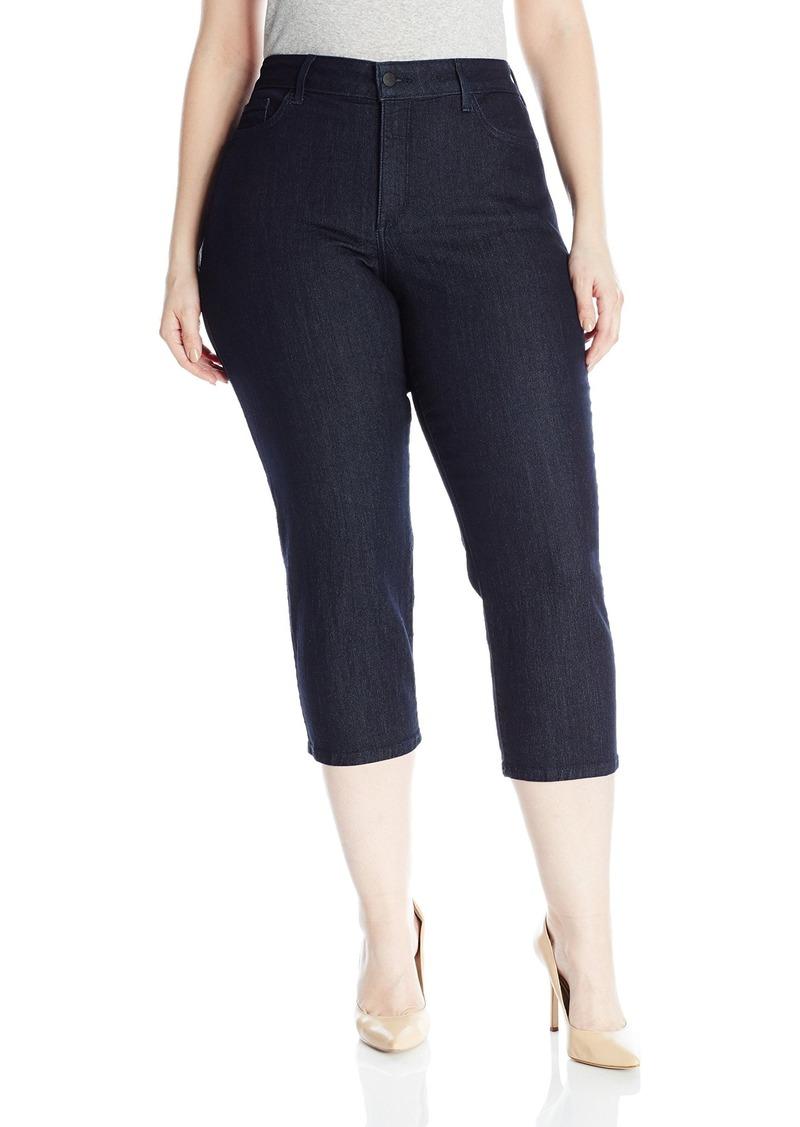 NYDJ Women's Plus Size Marilyn Relaxed Capri Jeans