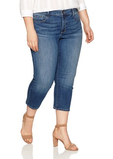 NYDJ Women's Plus Size Marilyn Relaxed Capri Jeans In Cool Embrace Denim