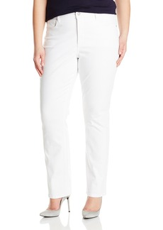 NYDJ Women's Plus-Size Marilyn Straight Jeans In Bull Denim Optic White