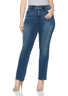 NYDJ Women's Plus Size Marilyn Straight Jeans In Smart Embrace Denim