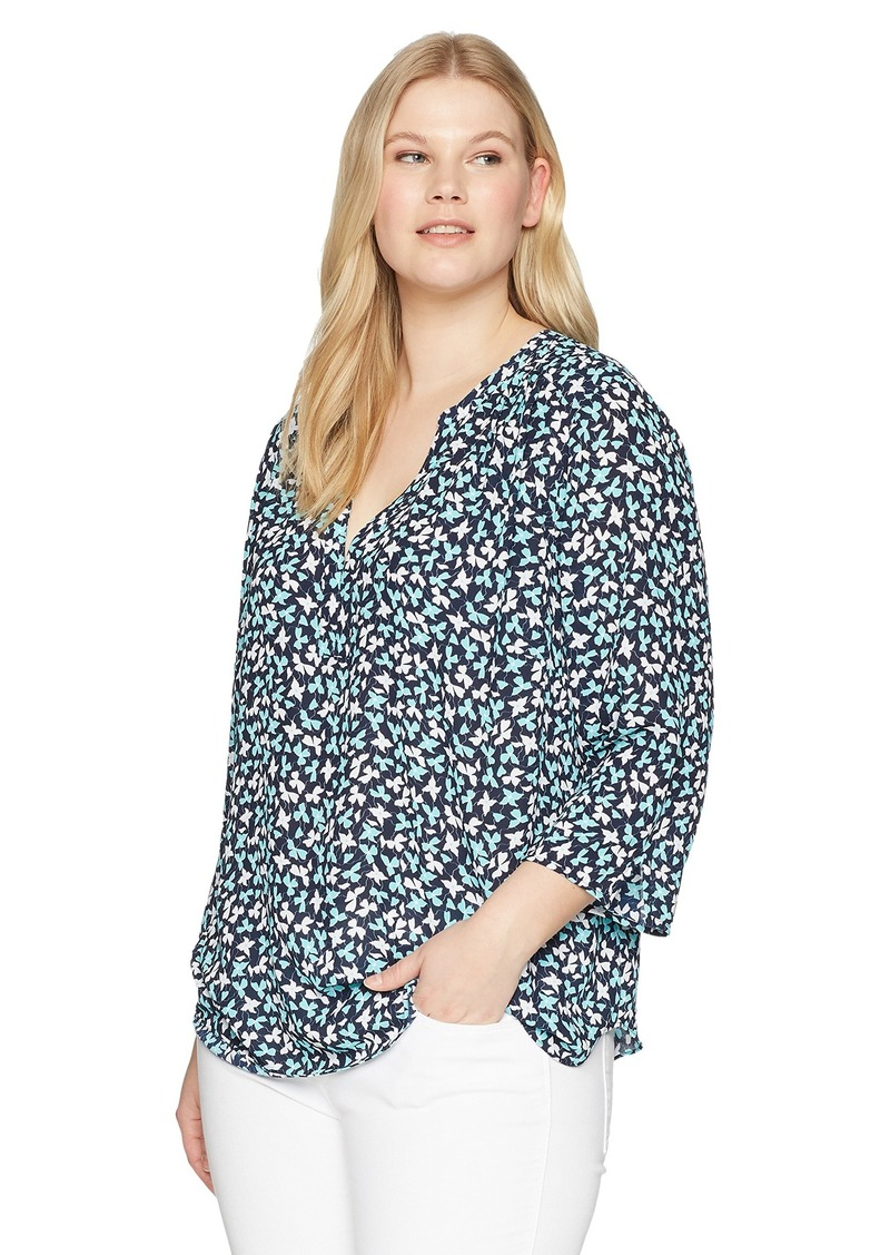 bee1ebab29f NYDJ NYDJ Women s Plus Size Pintuck Blouse