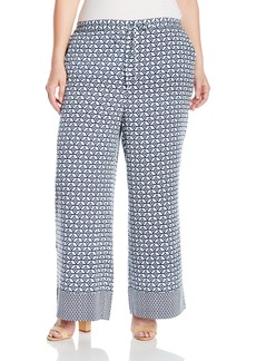 NYDJ Women's Plus Size Printed Palazzo Pants  2X