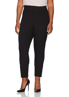 NYDJ Women's Plus Size Pull on Ponte Knit Leggings with Zippers  W