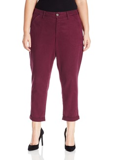 NYDJ Women's Plus Size Reese Relaxed Pants in Colored Chino Twill