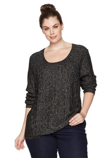 Not Your Daughter's Jeans NYDJ Women's Plus Size Sequin Longsleeve Scoop Sweater