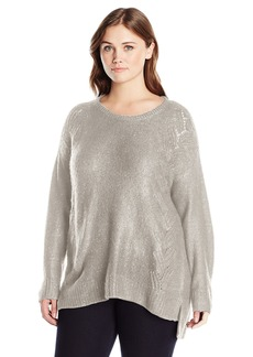 Not Your Daughter's Jeans NYDJ Women's Plus Size Sequin Tunic Sweater snowcap Heather