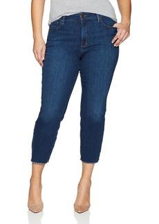 NYDJ Women's Plus Size Sheri Slim Ankle With Fray Hem Jean