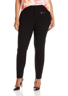 NYDJ Women's Plus-Size Zip Ponte Leggings black 22W