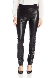 NYDJ Women's  Ponte Faux Leather Legging