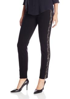 NYDJ Women's Poppy Legging with Lace Tuxedo Inset Pull On