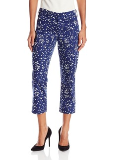 NYDJ Women's Printed Karen Capri Pants In Stretch Sateen