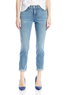 NYDJ Women's Rachel Rolled Cuff Ankle Jeans In Printed Denim  4
