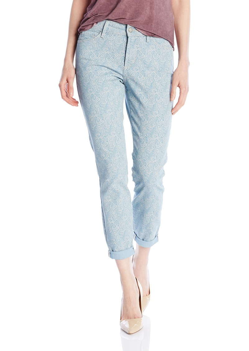 NYDJ Women's Rachel Rolled Cuff Ankle Jeans in Printed Denim