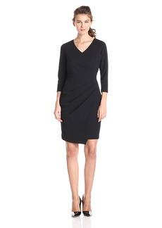 NYDJ Women's Rosella Stretch Crepe Drape Dress