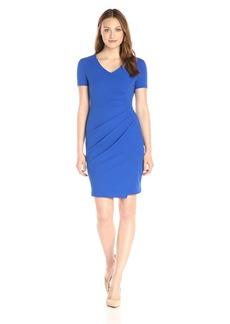 NYDJ Women's Rosie Short Sleeve Sheath Dress with Fit Solution