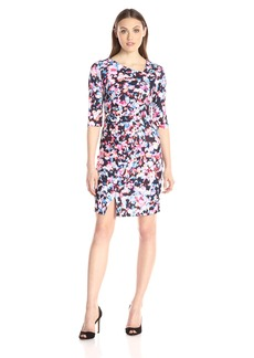 Not Your Daughter's Jeans NYDJ Women's Sandra Printed Stretch Crepe Dress with Fit Solution