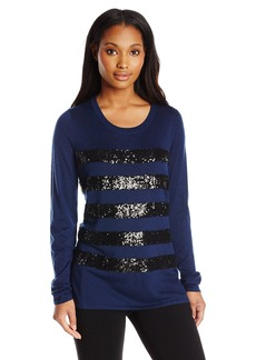 Not Your Daughter's Jeans NYDJ Women's Sequin Stripe Holiday Sweater