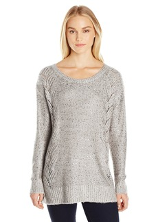 Not Your Daughter's Jeans NYDJ Women's Sequin Tunic Sweater snowcap Heather