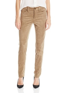 NYDJ Women's Sheri Slim Faux Suede Pants