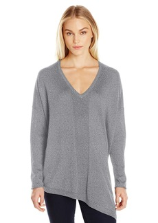 Not Your Daughter's Jeans NYDJ Women's Shimmer Asymmetric Sweater  L/XL