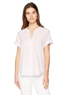 NYDJ Women's Short Sleeve Boyfriend Shirt  XS