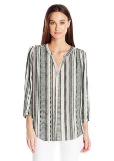 NYDJ Women's Petite Size 3/4 Sleeve Pintuck Blouse  X-Large