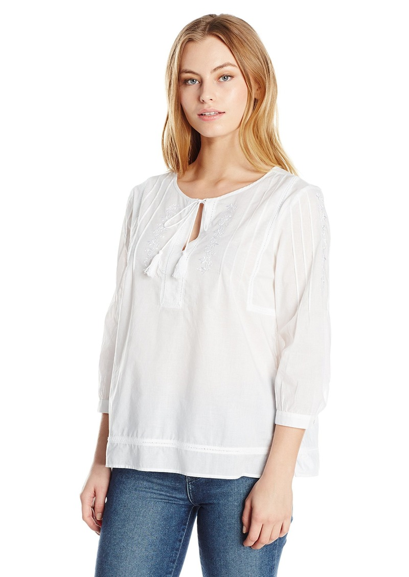 6af1ea817e57a NYDJ NYDJ Women s Size Embroidered Voile Top X-Large Petite