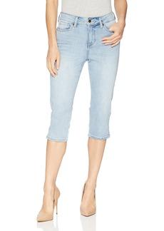 NYDJ Women's Skinny Capri with Palm Tree Embroidery Pants