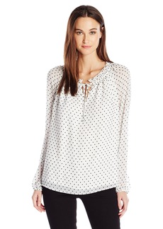 Not Your Daughter's Jeans NYDJ Women's Stella Clipped Jacquard Blouse