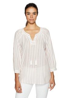 NYDJ Women's Striped Popover Top