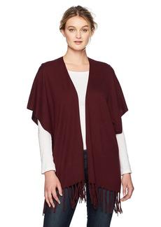 NYDJ Women's Sweater Wrap with Fringe  L/XL
