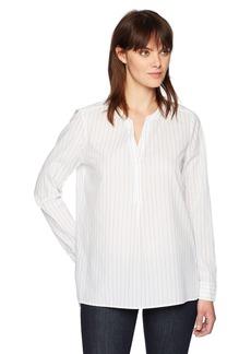 NYDJ Women's Yarn Dye Lawn Henley Shirt  S