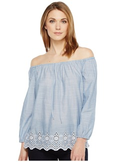 Not Your Daughter's Jeans Off Shoulder Top w/ Embroidered Detail