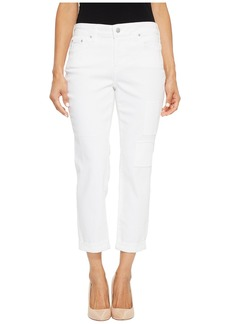 Not Your Daughter's Jeans Petite Boyfriend w/ Patchwork in White