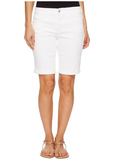 NYDJ Petite Briella Roll Cuff Shorts in Optic White