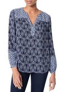 Not Your Daughter's Jeans Print Mix Peasant Top