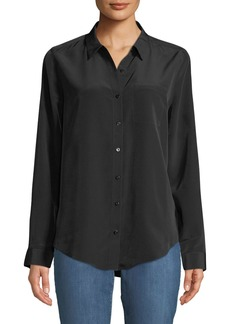 Not Your Daughter's Jeans Satin Button-Down Blouse