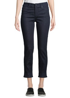 NYDJ Sheri Embroidered-Ankle Jeans