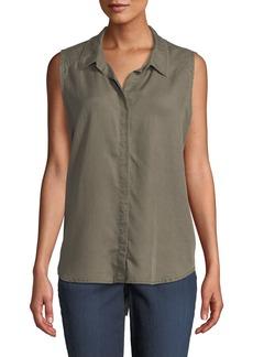 NYDJ Sleeveless Button-Back Shirt