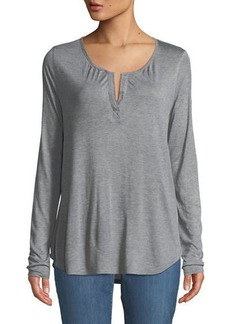 Not Your Daughter's Jeans Split-Neck Henley Tee