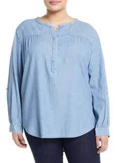 Not Your Daughter's Jeans Tessa Chambray Pullover Blouse