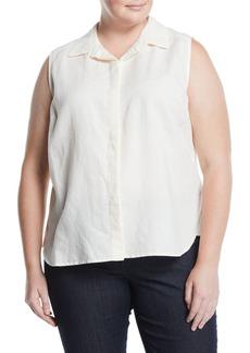 NYDJ Vera Sleeveless Button-Front Blouse  Plus Size