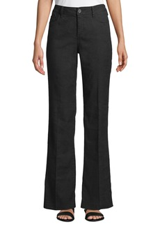 Not Your Daughter's Jeans Wylie High-Rise Linen Flare Trousers