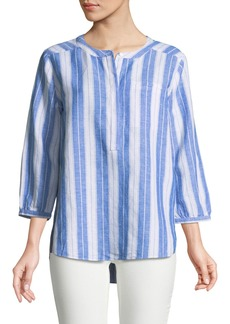 Not Your Daughter's Jeans Yarn-Dyed Striped Linen Blouse