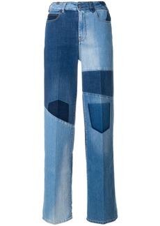 Notify wide patchwork jeans